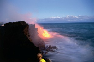 saf lava meets the sea